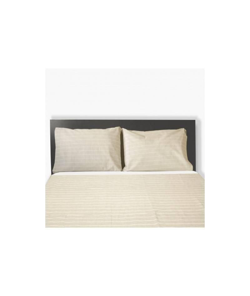 juego de sábanas beige cama 150cm